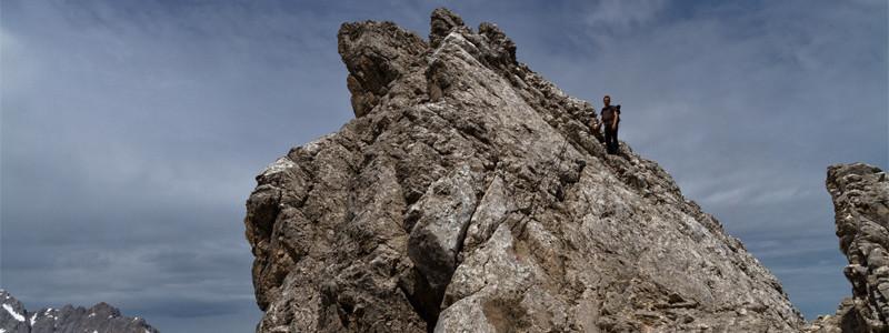 Auf dem Weg zur Alpspitze