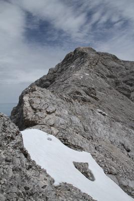 Der abschließende Grat zum Gipfel der Alpsitze