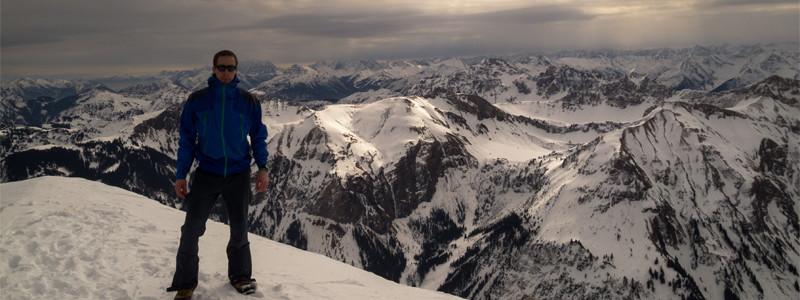 Am Gipfel des Gaishorn